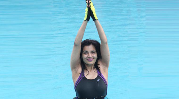 Imagine kickboxing or doing yoga in water