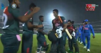 First T-20 match without shakib and tamim india loss